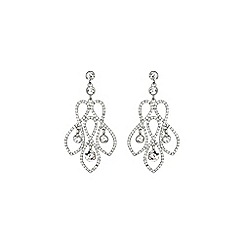 Mikey London - White twisted wire design crystal earring
