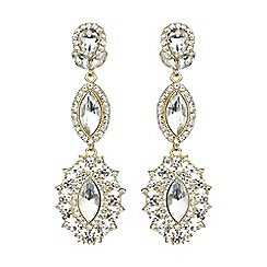 Mikey London - Triple eclipse stone long drop earring
