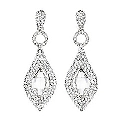 Mikey London - White marquise oval centre stone earring