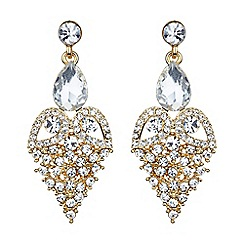 Mikey London - Gold fruit crystal design drop earring
