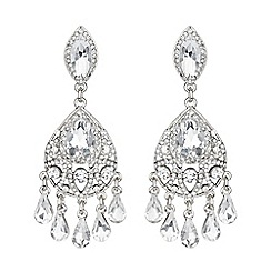 Mikey London - White dual crystal drop earring