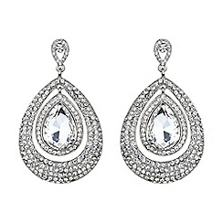 Mikey London - White eclipse crystal twin surround earring