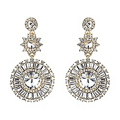 Mikey London - Gold sun baguette triple drop earring