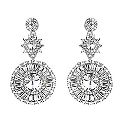 Mikey London - White sun baguette triple drop earring