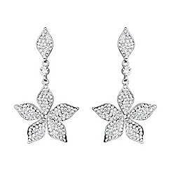 Mikey London - White leaf design crystal drop earring