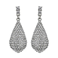 Mikey London - White eclipse embedded crystal drop earring