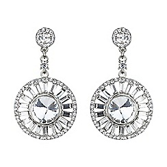 Mikey London - White baugette circle centre crystal earring