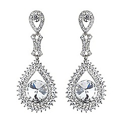 Mikey London - White circle crystal surround drop earring