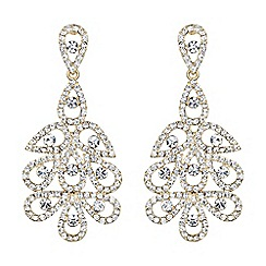 Mikey London - Gold multi oval linked crystal drop earring