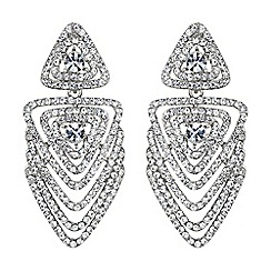 Mikey London - White multi layer crystal traingle earring