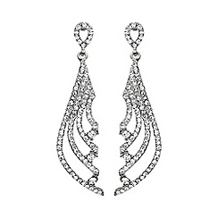 Mikey London - White crystal stripe knife design drop earring