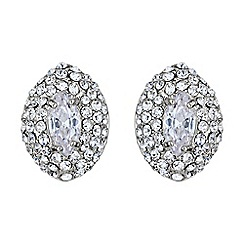 Mikey London - White eclipse crystal top stud earring