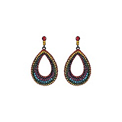 Mikey London - Rainbow large loop earring
