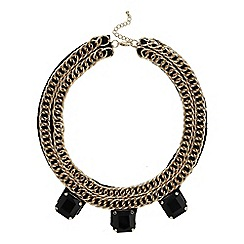 Mikey London - Black chain collar with stone