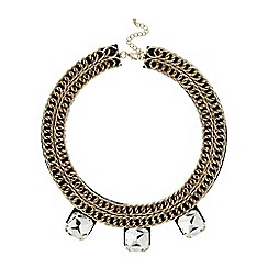 Mikey London - White chain collar with stone