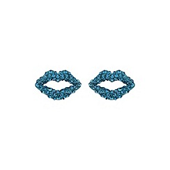 Mikey London - Blue zircon lip small earring