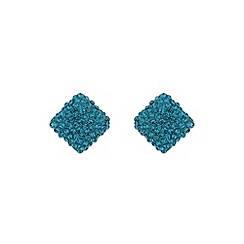 Mikey London - Blue zircon square earring