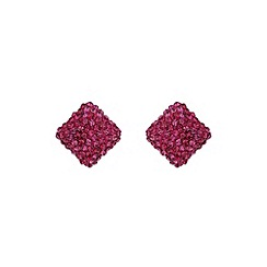 Mikey London - Fuchsia square earring