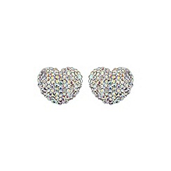 Mikey London - Azure blue heart earring