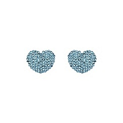 Mikey London - Aqua heart earring