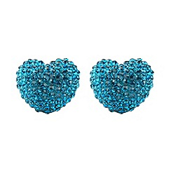 Mikey London - Blue zircon heart earring
