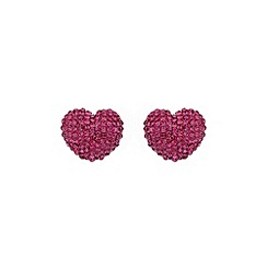 Mikey London - Fuchsia heart earring