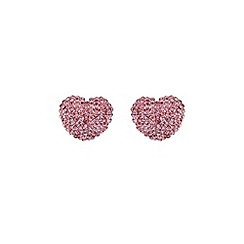 Mikey London - Pink heart earring