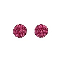 Mikey London - Fushia round earring