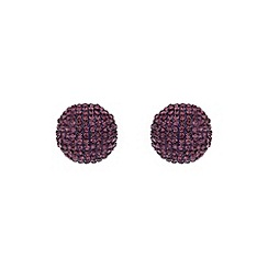 Mikey London - Purple round earring