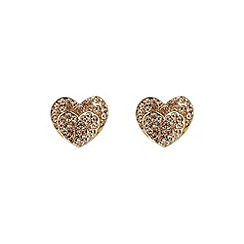 Mikey London - Gold double heart earring