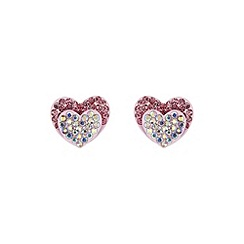 Mikey London - Pink double heart earring