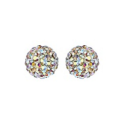 Mikey London - Azure blue ball stud earring