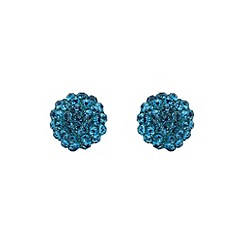 Mikey London - Blue zircon ball stud earring