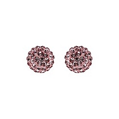Mikey London - Pink ball stud earring