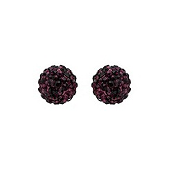 Mikey London - Purple ball stud earring