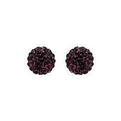 Mikey London - Purple ball stud earring