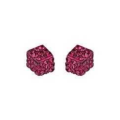 Mikey London - Fushia dice stud earring