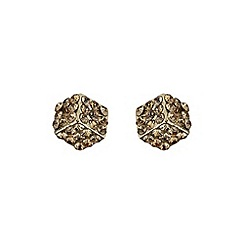 Mikey London - Gold dice stud earring
