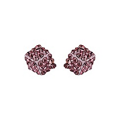 Mikey London - Pink dice stud earring