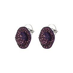 Mikey London - Purple flat hat earring