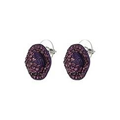 Mikey London - Purple flat hat earring