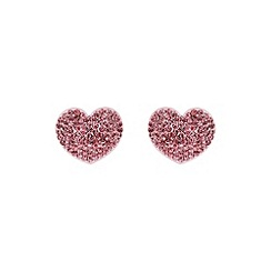 Mikey London - Pink flat heart earring
