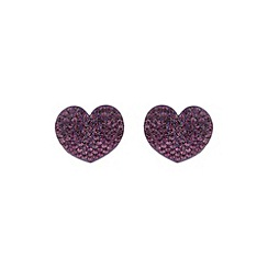 Mikey London - Purple flat heart earring