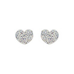 Mikey London - White flat heart earring