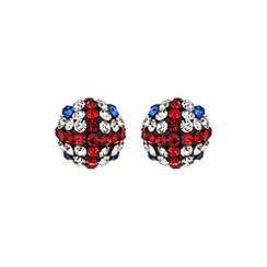 Mikey London - White round britisf flag 12mm