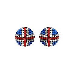 Mikey London - White round britsh flag 18mm