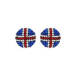 Mikey London - White round british flag 20mm