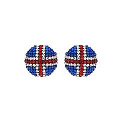 Mikey London - White round british flag 20mm