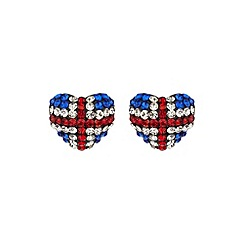 Mikey London - White heart british flag