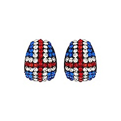 Mikey London - White large oval british flag